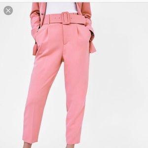 Zara pink trousers 💓